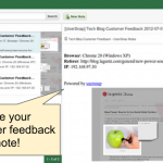 Find your feedback in Evernote