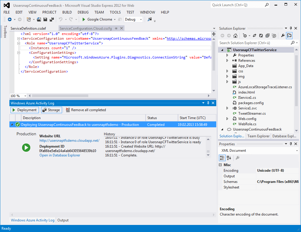 Deployment of your project from within Visual Studio