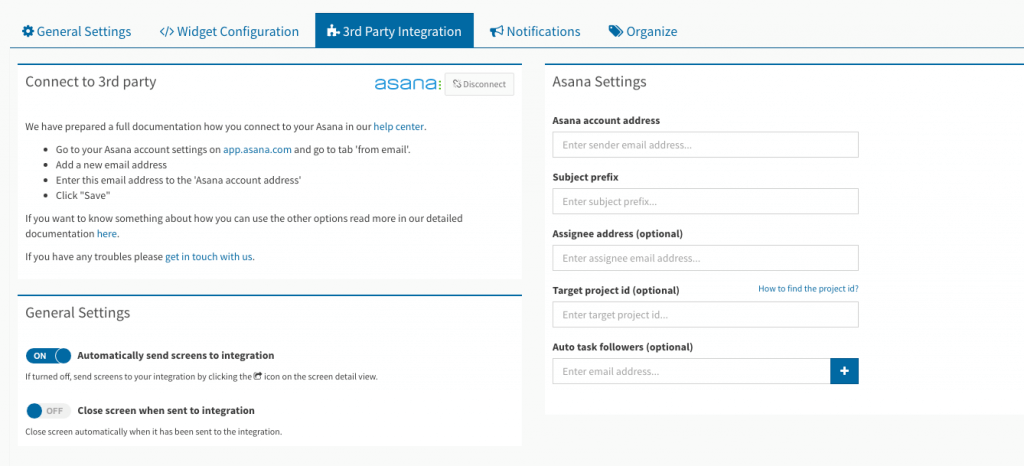 asana usersnap integration