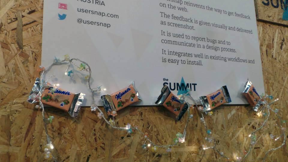 Usersnap booth Alpha Web Summit