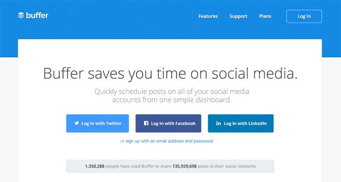 Buffer is the best way to schedule social media posts