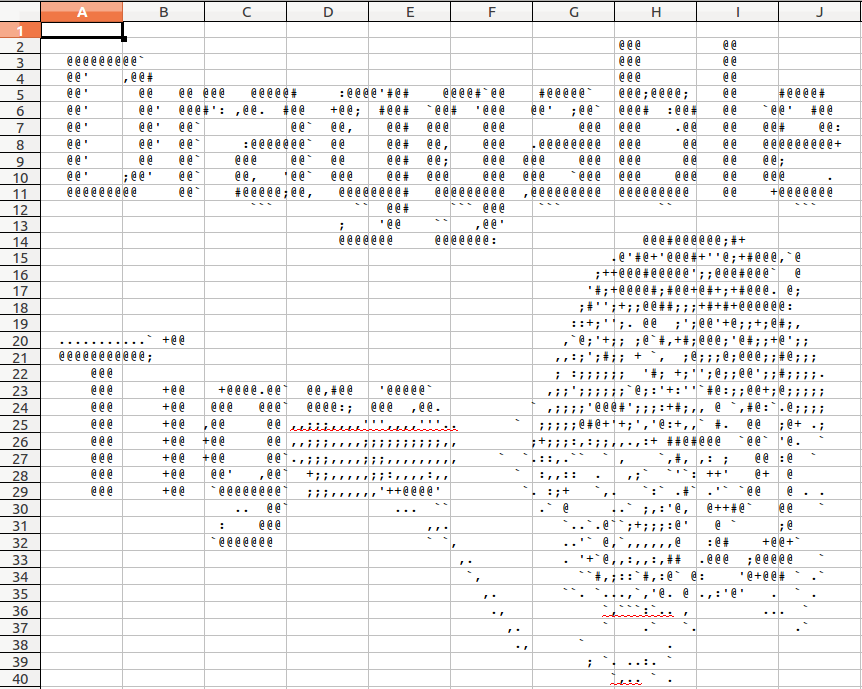 the Excel mode