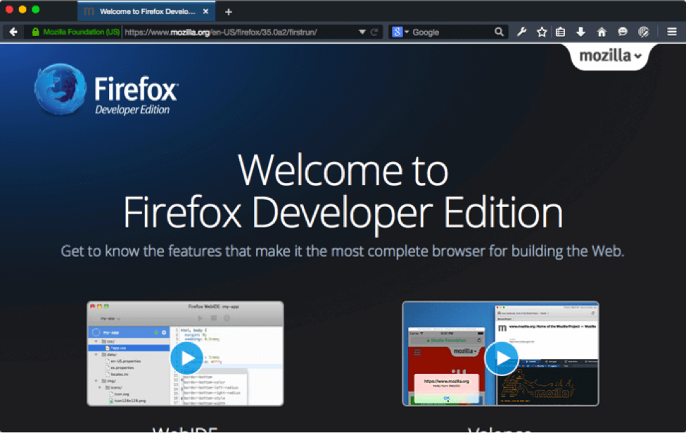 Firefox Developer Edition Review from Usersnap