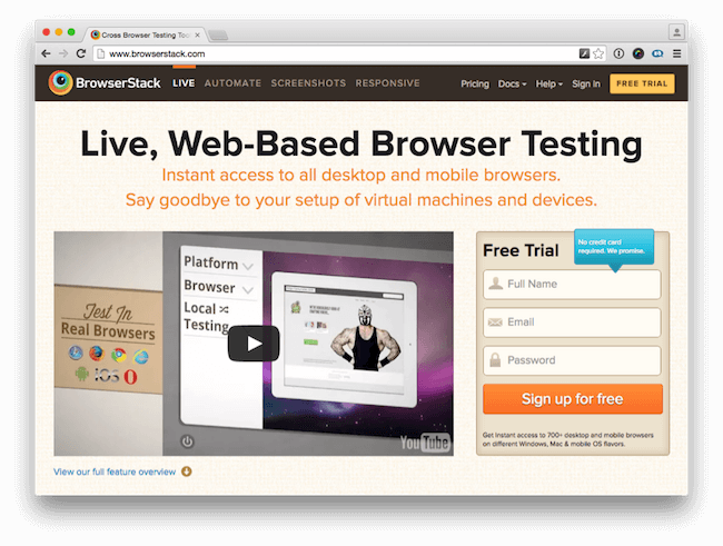 Browser Testing with Browserstack