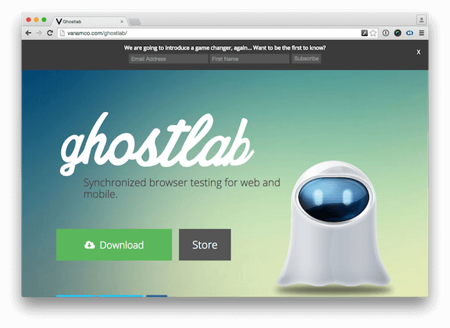 browser testing with ghostlab