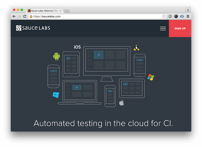 Browser testing with Saucelabs