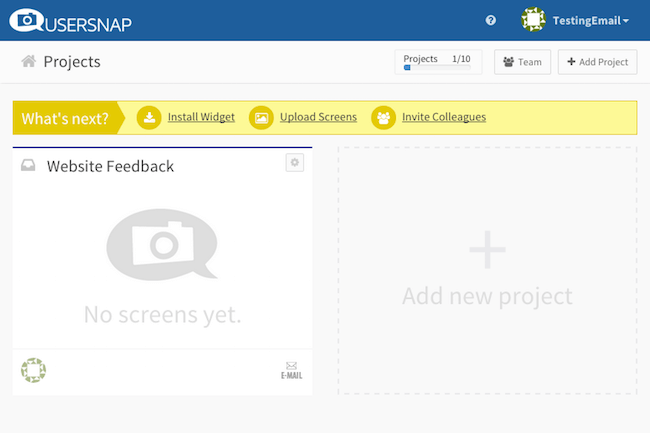 usersnap projects for bug tracking with wunderlist