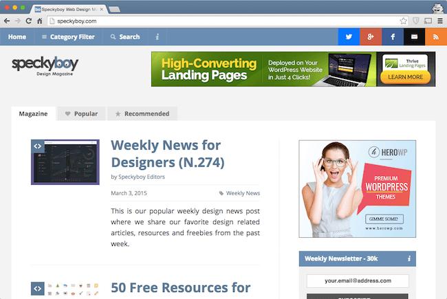 speckyboy web development blog for developers