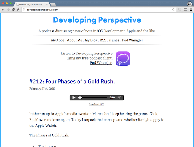 developing perspective - best web development podcast