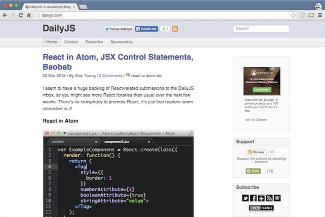 dailyJS web development blog for developers