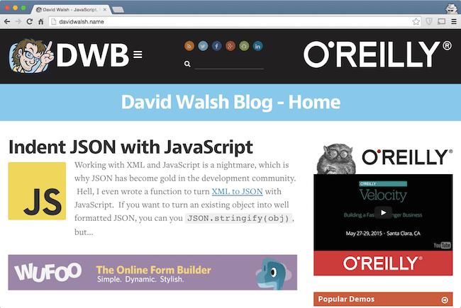 david walsh blog  web development blog for developers