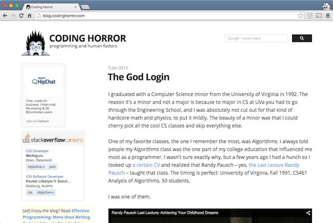 coding horror blog web development blog for developers