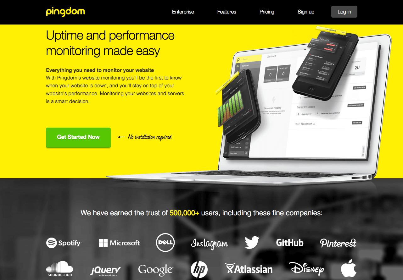 Pingdom website monitoring