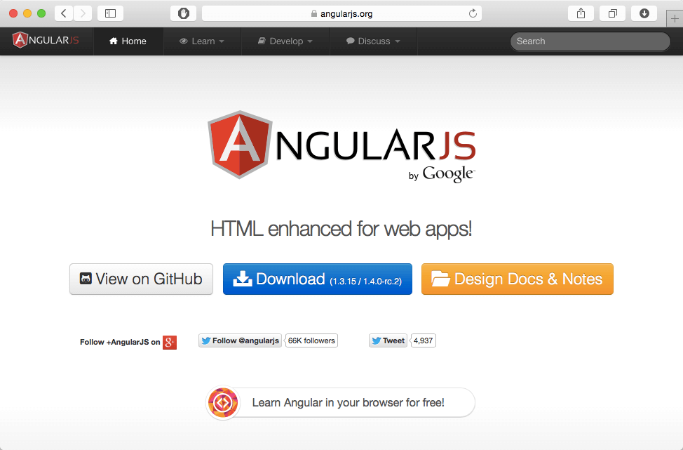 angular js toolkit for web development