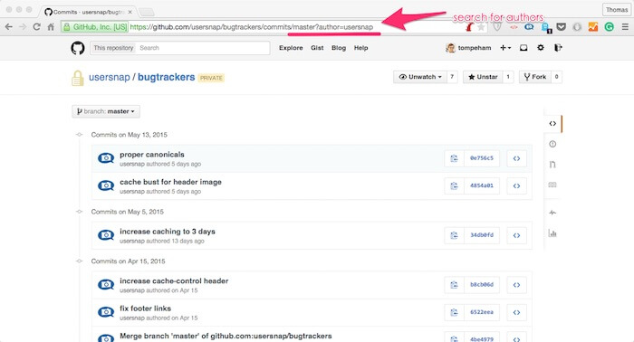 How to search authors github tutorial