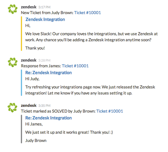 customer support inside slack