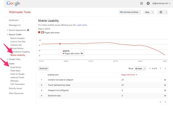 google webmaster tools for website performance testing