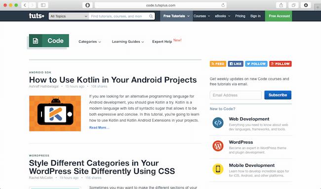 code tutsplus newsletter best web dev newsletters