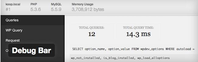 debug bar wordpress plugin for wordpress developers