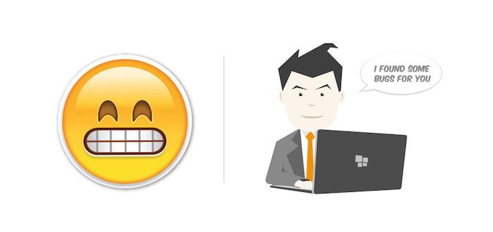 emojis in bug reports