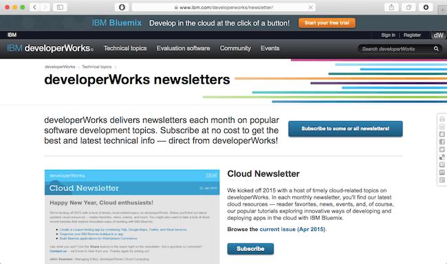 developerworks newsletter best web developer newsletters