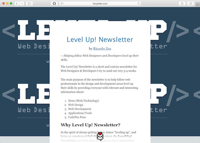 levelup web development newsletter