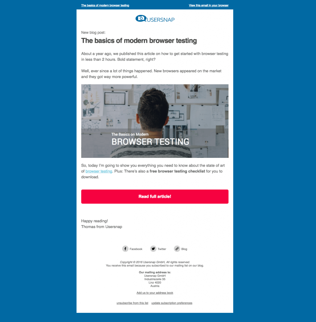 all about web development newsletter