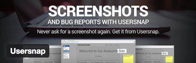 usersnap wordpress plugin for wordpress developers
