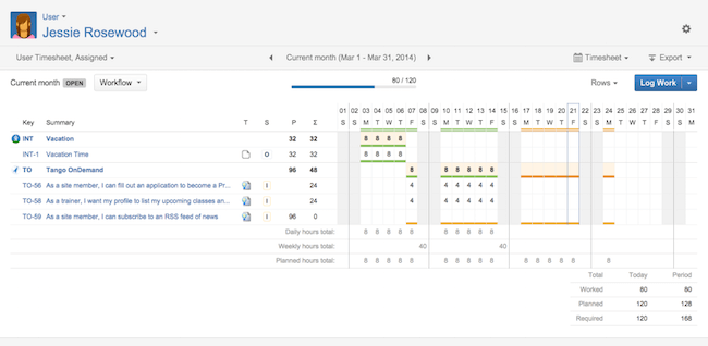 tempo timesheet for jira integration
