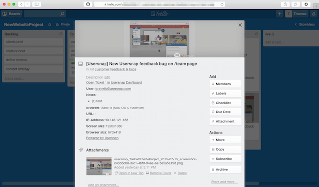 usersnap trello tools integration