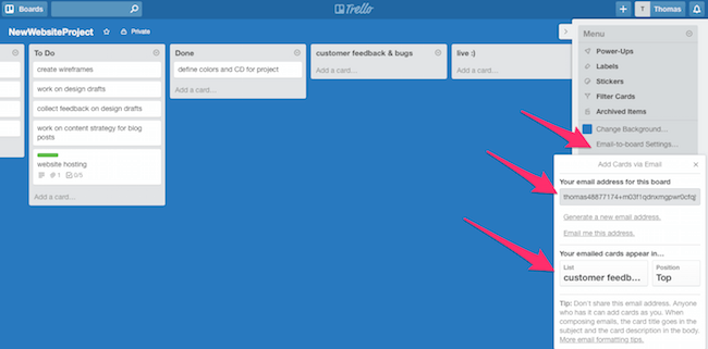 project board trello integration usersnap for developers