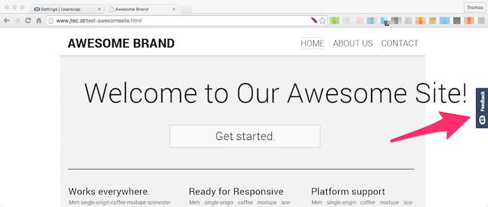 website feedback widget