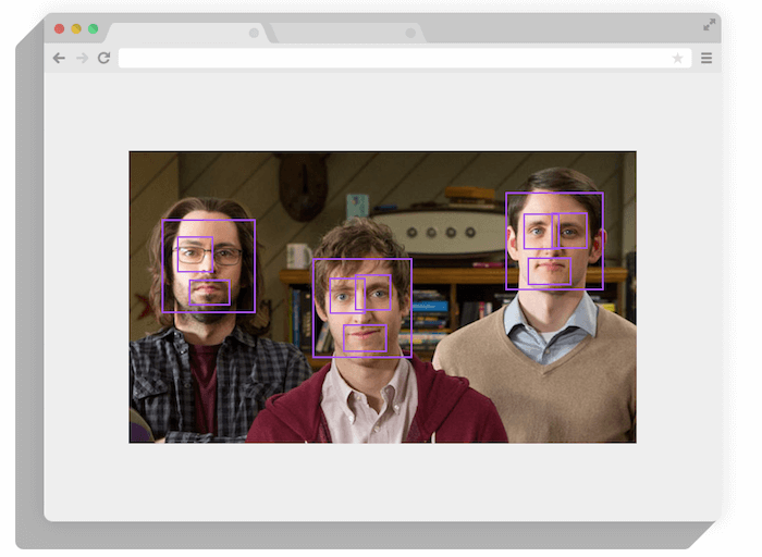 face detection tracking.js javascript library
