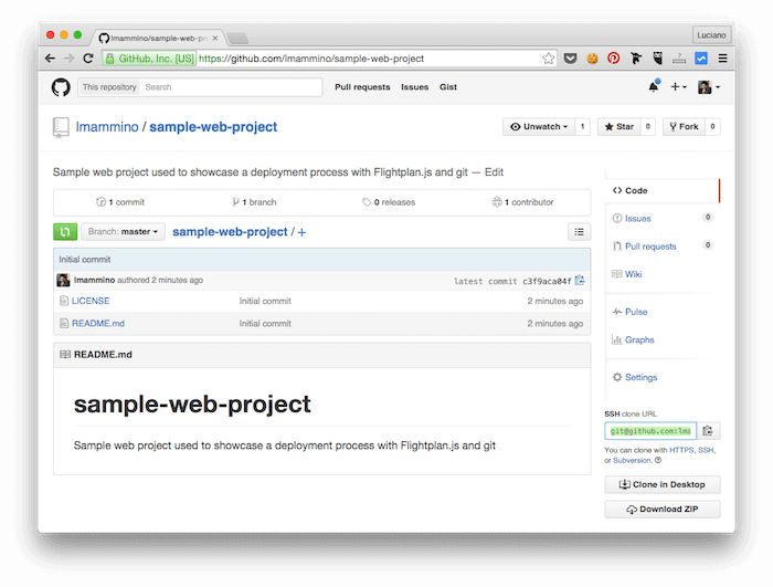 your public github repo for static websites