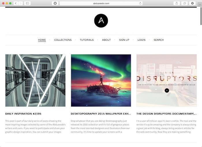 abduzeedo best web design blogs
