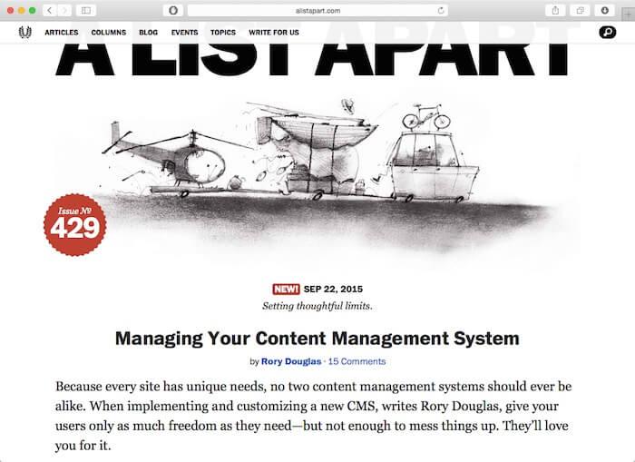 A List Apart web design blogs