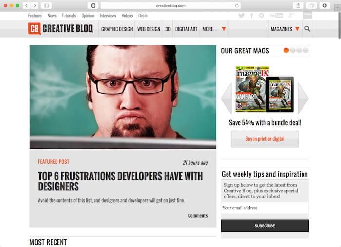 creative bloq web design blogs
