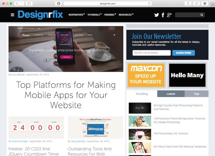 designrfix web design blogs