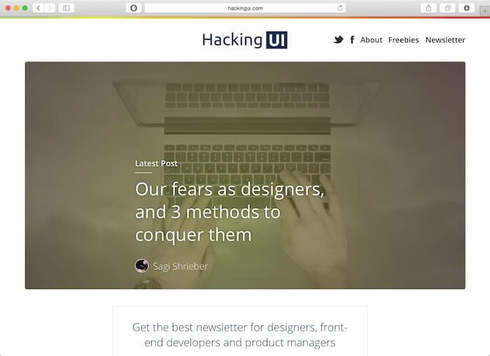 hacking UI web design blog