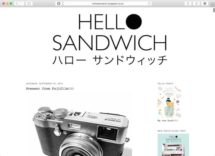hello sandwich blog from japan web designer
