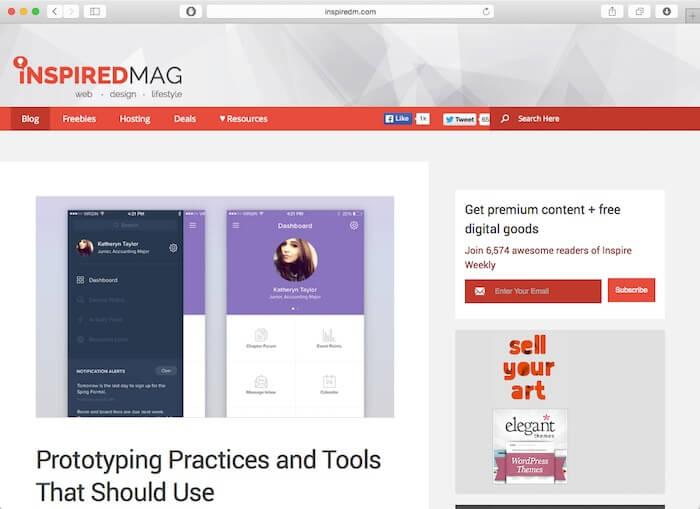 inspiredM best web design blogs