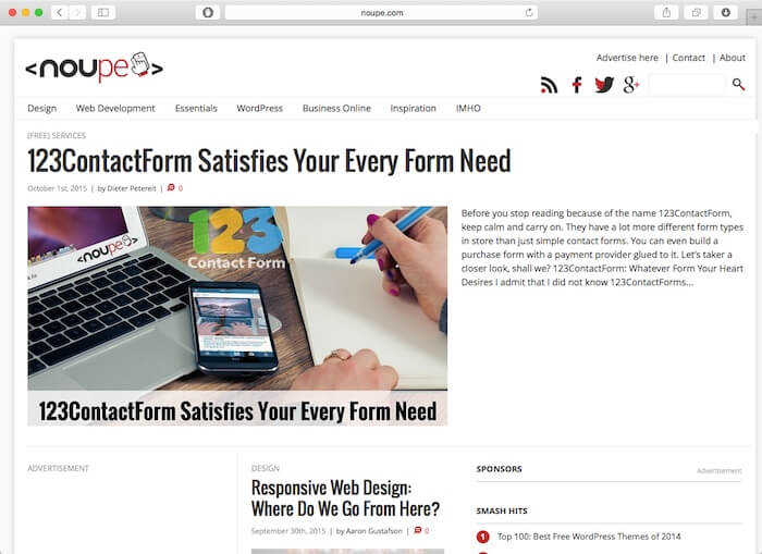 noupe web design blogs