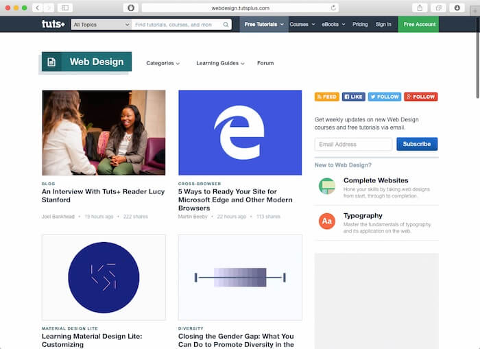 web design tuts+ blog