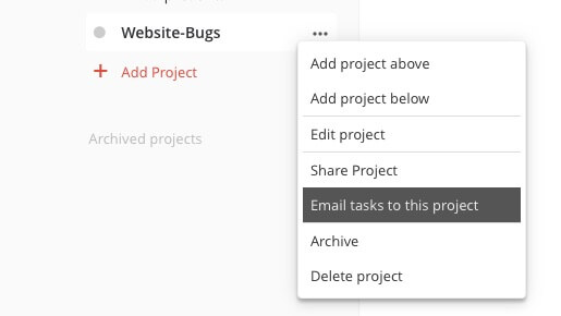 todoist integrations for tracking bugs