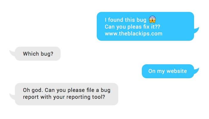 chat messengers change bug tracking