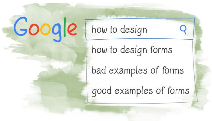 how to design web forms examples bad & good