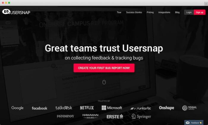 new website usersnap