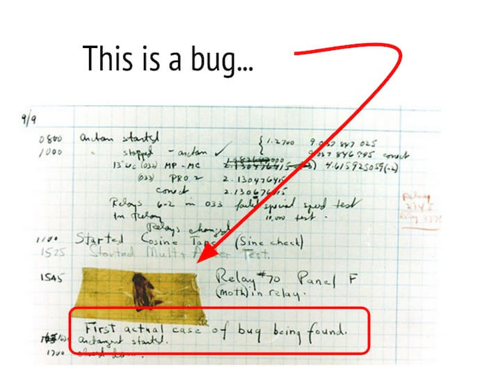 first bug reported