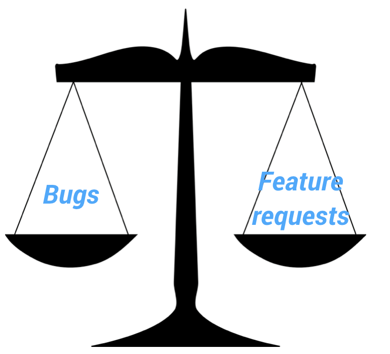 bugs vs feature requests