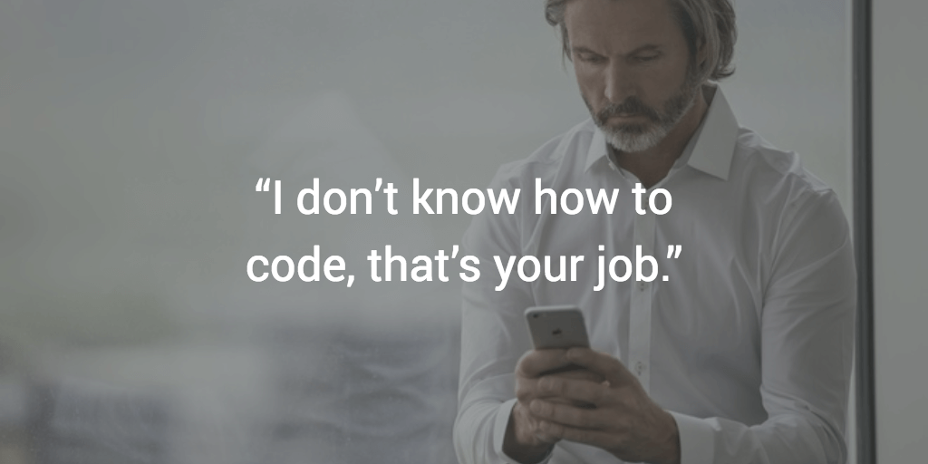 I don't know how to code. That's your job